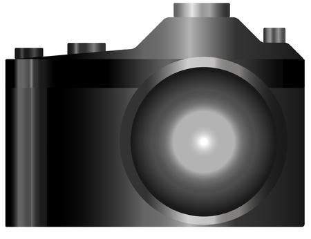 Black camera. Vector illustration. Illustration
