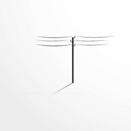 wires: Pole with wires. Vector illustration. Illustration