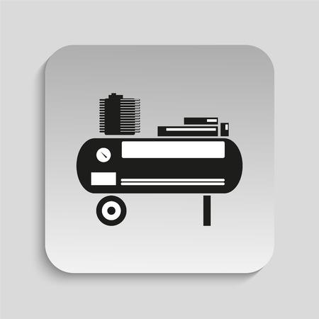 compresor: Herramienta eléctrica. Compresor. Icono del vector. Vectores