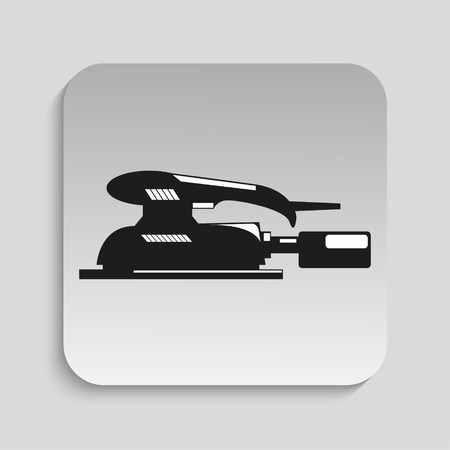 sander: Power tool. Sander. Vector icon. Illustration