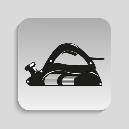 planer: Power tool. Electric Planer. Vector icon. Illustration