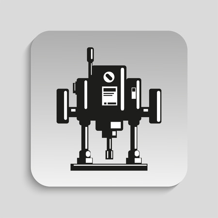plunge: Power tool. Electric milling tool. Vector icon.