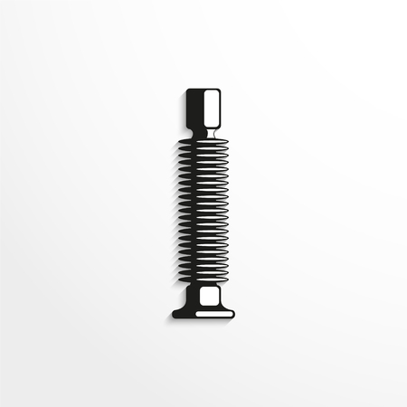 telephone pole: Electrical insulator. Vector illustration. Black and white view.