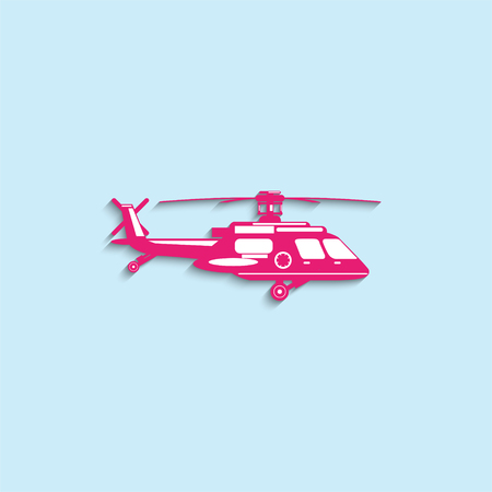 helicopter rescue: Rescue helicopter. Vector icon.