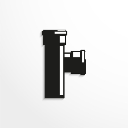 sewer: Sanitary elements. Connector for sewer pipes. Vector illustration. Illustration