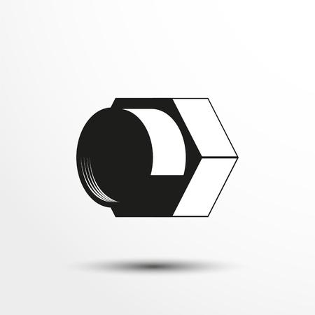 internally: Plumbing elements. An internally threaded cap. Vector illustration. Illustration