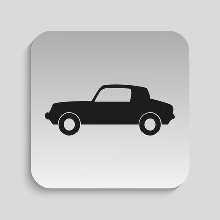 service station: The car at the service station. Vector icon.