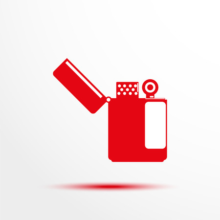 pyrotechnics: Lighter. Vector icon.