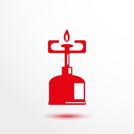 travel burner: Gas-burner. Vector icon. Illustration