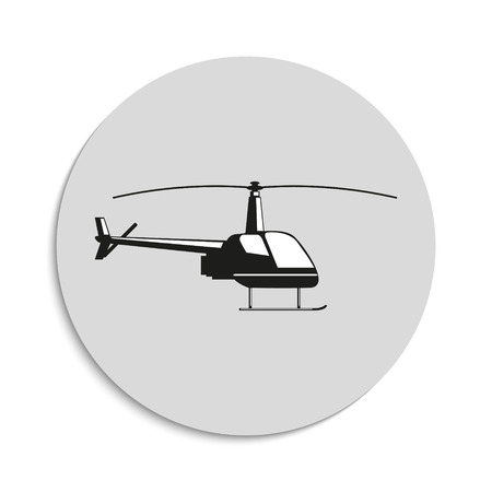 fuselage: Helicopter. Vector icon.