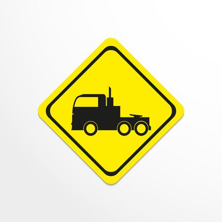 semitrailer: Truck. Black vector icon Illustration