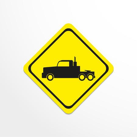 truckload: Truck. Black vector icon Illustration