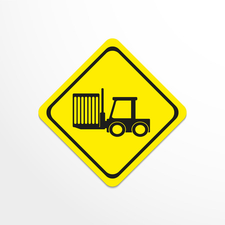 work crate: The loader. Black vector icon