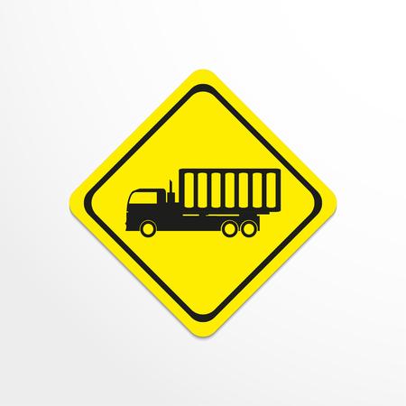 dumper: Truck. Black vector icon Illustration