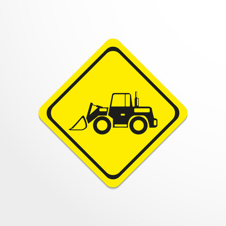 to unload: Construction machinery. Loader. Vector icon. Illustration