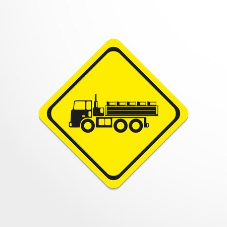 haulage: Truck. Black vector icon Illustration