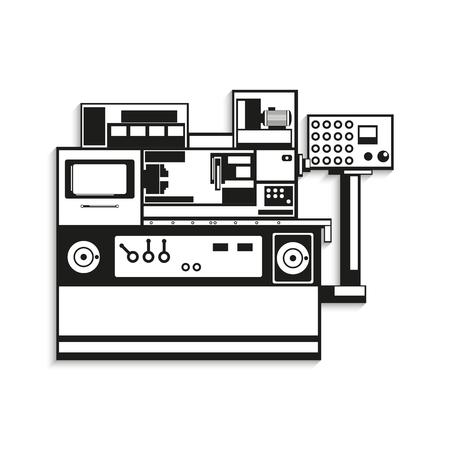 Equipo industrial. Ilustración del vector. Ilustración de vector