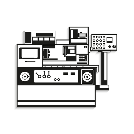 Industrial equipment. Vector illustration.