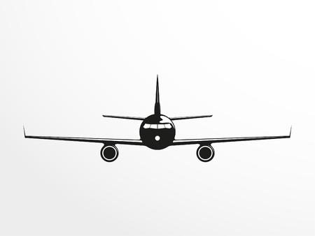 the passenger: A passenger plane. Vector illustration.