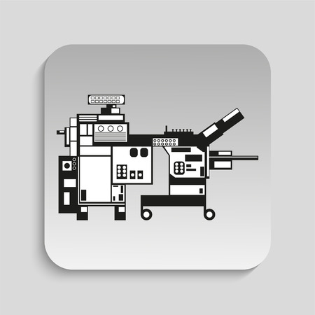 industrial machinery: Industrial equipment. Machine. Vector icon.