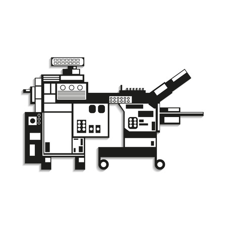 industrial machine: Industrial equipment. Machine. Vector icon.
