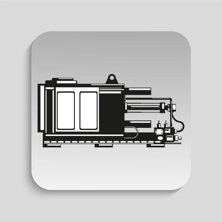 metalwork: Industrial equipment. Machine. Vector icon.