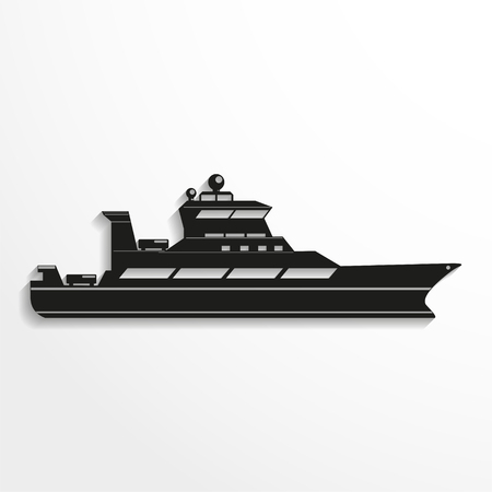 bulk carrier: Ocean ship. Vector illustration.
