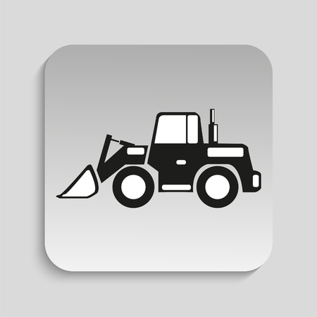 stockpile: Construction machinery. Loader. Vector icon. Illustration