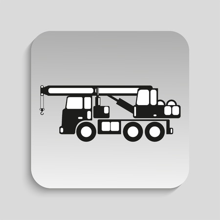 heavy: Heavy crane. Vector icon.