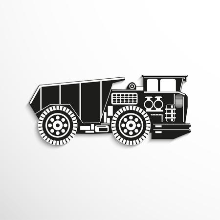 heavy: Heavy truck. Vector icon.