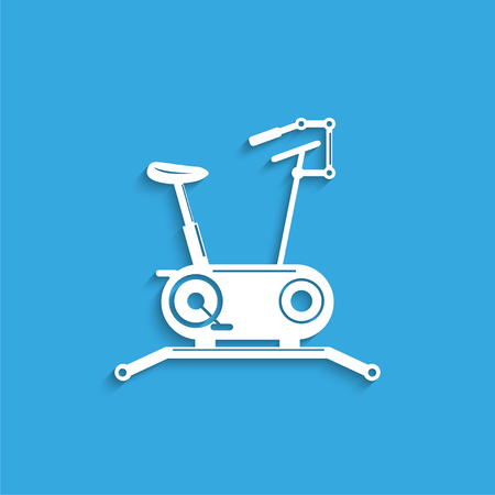 Indoor exercise bike. Symbol. Vector icon. Illustration