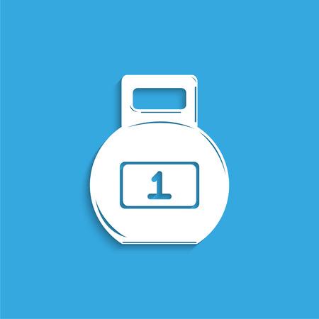 barre: Sport weight. Symbol. Vector icon. Illustration