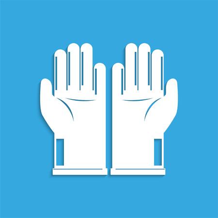 Sanitary gloves. Symbol. Vector icon.