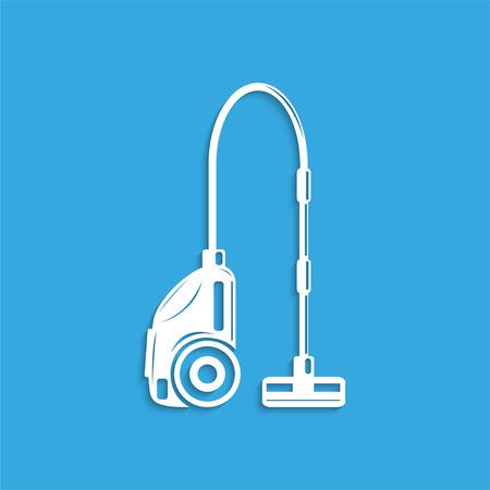 cleaner vacuuming symbol: A vacuum cleaner. Symbol. Vector icon.