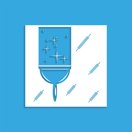 scraper: Cleaning the glass. Symbol. Vector icon. Illustration