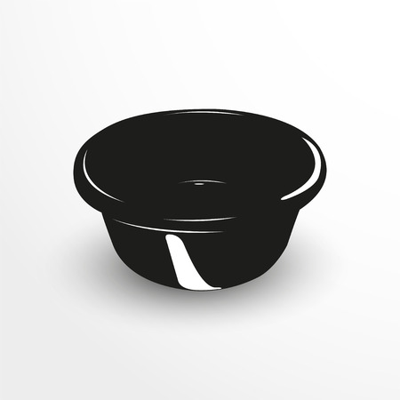 washbowl: Basin for washing. Vector illustration.