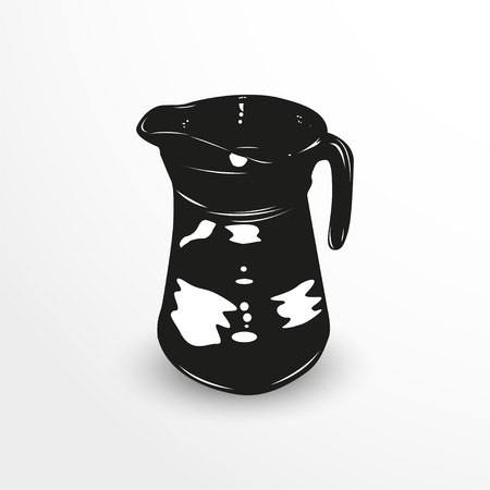 decanter: Decanter with water. Vector illustration.