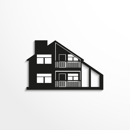 background house: House. Vector icon. Illustration