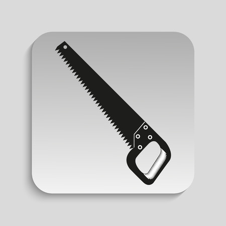Saw for wood. Vector icon.
