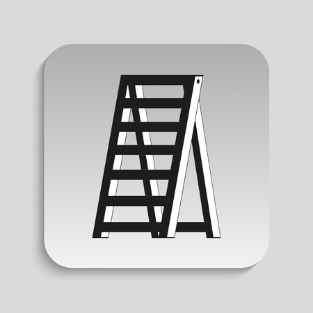 clambering: Ladder. Vector icon.