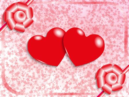 st  valentine: Postcard to the feast of St. Valentine. Vector illustration. Illustration