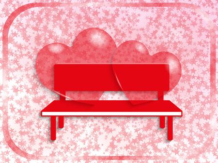 gush: Postcard to the feast of St. Valentine. Vector illustration. Illustration