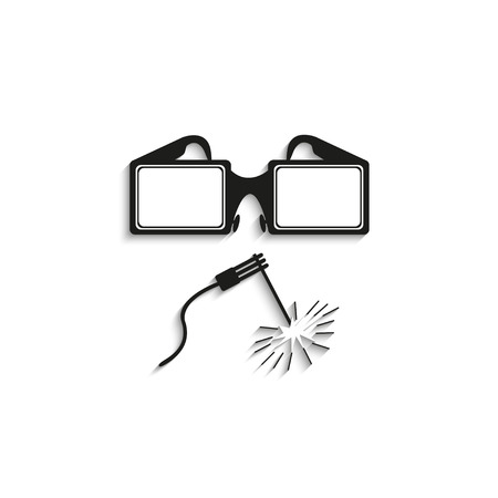 deeply: Welding works. Vector icon. Illustration