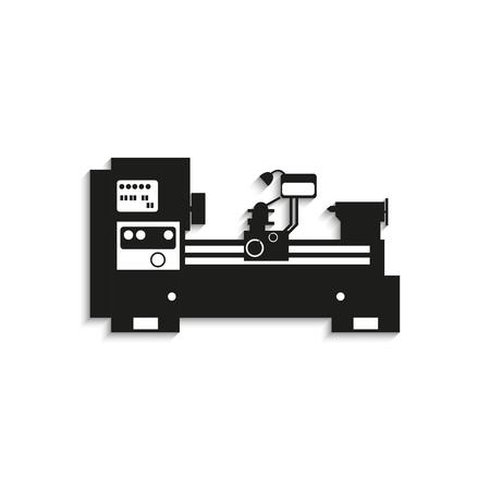 Equipo industrial. Máquina. Icono del vector.