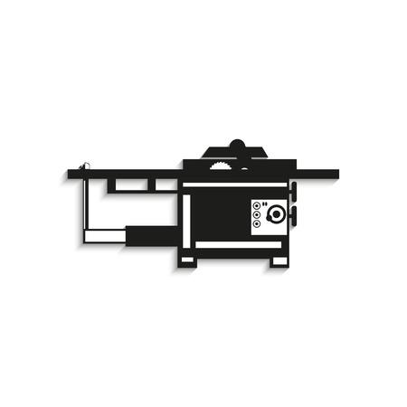 milling: Industrial equipment. Machine. Vector icon.