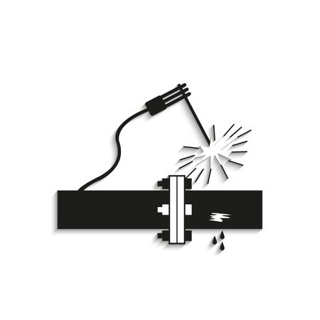 Symbol. Welding works. Vector icon. Illustration