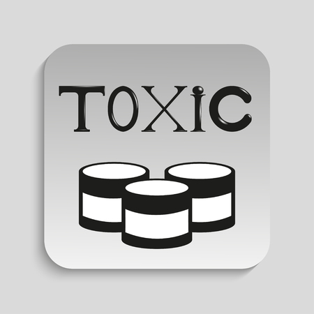 toxic: Toxic waste. Vector icon. Illustration