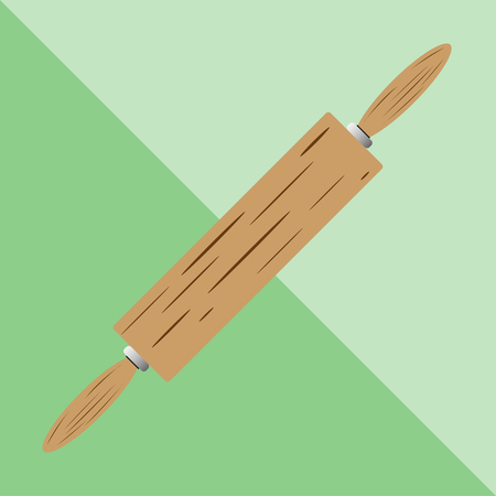 meat grinder: Rolling pin. Kitchen utensils and equipment. Vector icon.