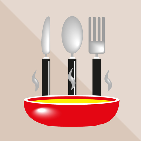 decanter: Plates and cutlery. Kitchen utensils and equipment. Vector icon.