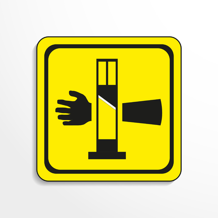oxidant: Danger sign. Cutting equipment. Vector icon. Illustration